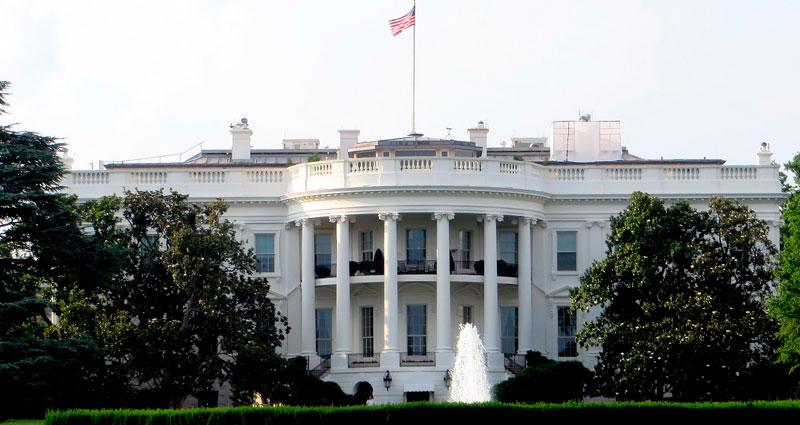Casa blanca en Washington DC, en los Estados unidos de Norteamérica.