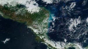 Mapa virtual de Nicaragua durante frente frio