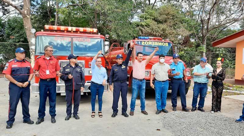 Autoridades del Cuerpo Unificado de Bomberos de Nicaragua inauguran la Estación Básica en Achuapa