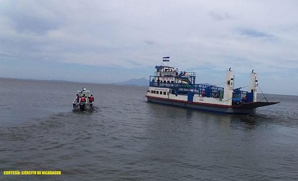 Foto Cortesía: En la Capitanía de Moyogalpa, Isla de Ometepe, se atendieron 127 ferris de transporte de carga con 6,417 pasajeros, con ruta acuática al puerto de San Jorge, departamento de Rivas.