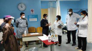 Ministra de Salud Martha Reyes durante visita realizada en el hospital Lenín Fonseca