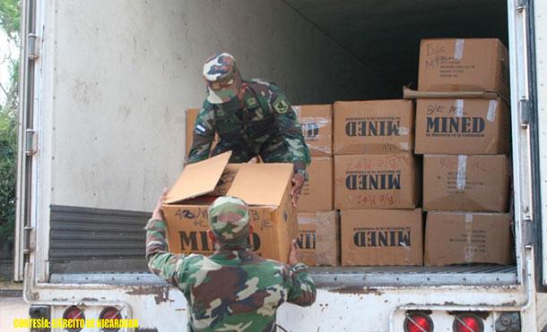 Se descargaron: 12,592 paquetes escolares y 1,190 maletines. Se emplearon fuerzas y medios del 1 Comando Militar Regional.