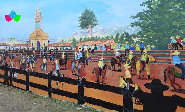 Foto Multinoticias // El mural consta de 5 escenarios artísticos