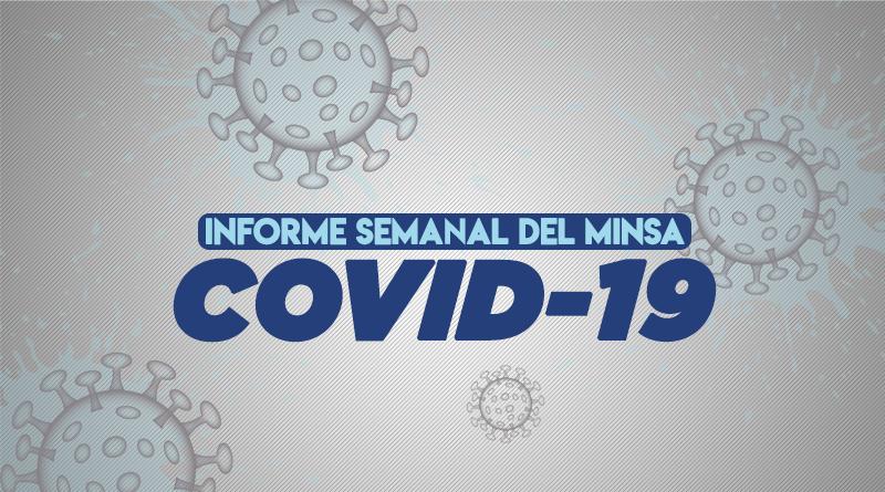 Informe semanal del MINSA sobre el COVID19 en Nicaragua