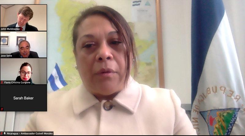 Embajadora de Nicaragua en reunión de la OIC.