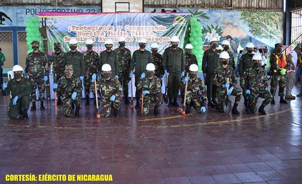 Foto Ejército de Nicaragua // Participaron fuerzas y medios del 2 Comando Militar Regional