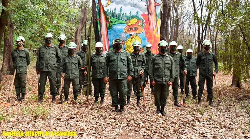 Participación de fuerzas y medios del 2 Comando Militar Regional, y brigadistas de la Defensa Civil