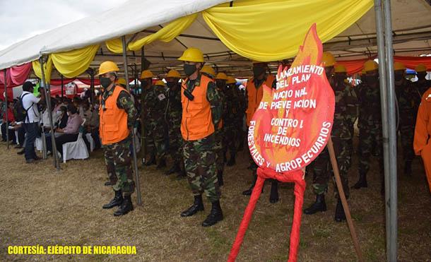 Foto Ejército de Nicaragua // El lanzamiento del plan se realizó en el Estadio José Joaquín Trejos
