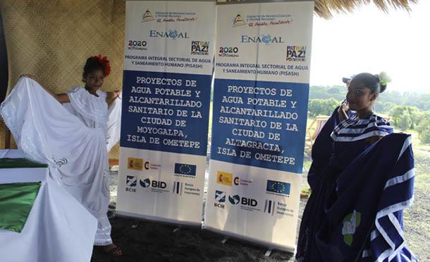 Foto ENACAL // La inversión total asciende a 707.8 millones de Córdobas