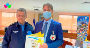 Director General de la Policía Nacional, Primer Comisionado Francisco Díaz con los Representantes del Comité Internacional de la Cruz Roja (CICR) en Nicaragua.