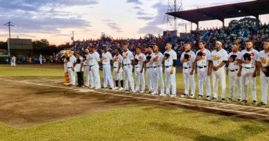 Equipo de los Tigres de Chinandega desde el Estadio Efraín Tijerino Mazariego / Foto: Alcaldía de Chinandega.