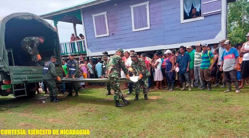 Descargue de ayuda humanitaria