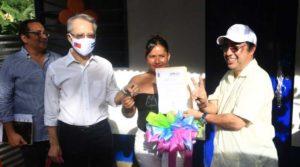 Embajador de Taiwán, Jaime Wu, protagonista de Vivienda Digna y Enrique Armas, Vice Alcalde de Managua.