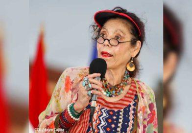 Vicepresidenta de Nicaragua, Rosario Murillo durante Acto del 87 Aniversario del Tránsito a la Inmortalidad del General Augusto C. Sandino