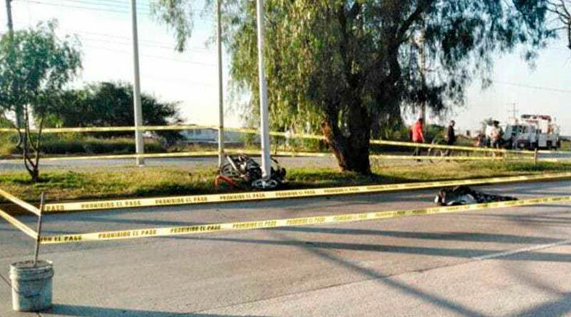Motocicleta involucrada en accidente de tránsito