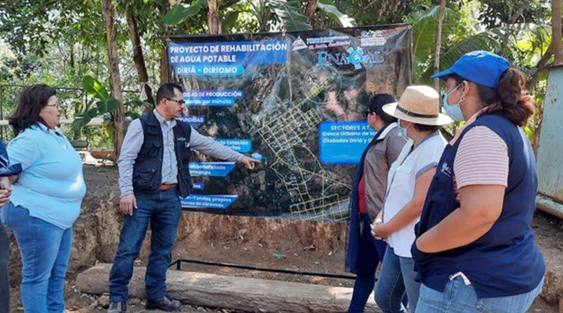 Visita de seguimiento al proyecto realizada por ENACAL