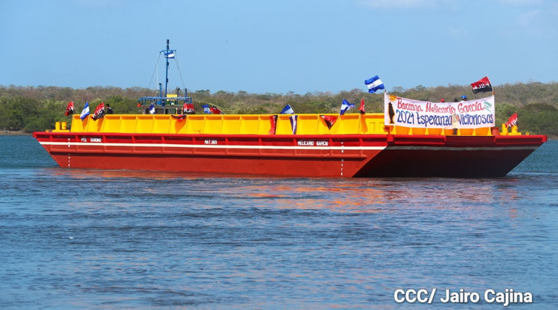 Nueva barcaza inaugurada por la Empresa Portuaria Nacional en Puerto Sandino