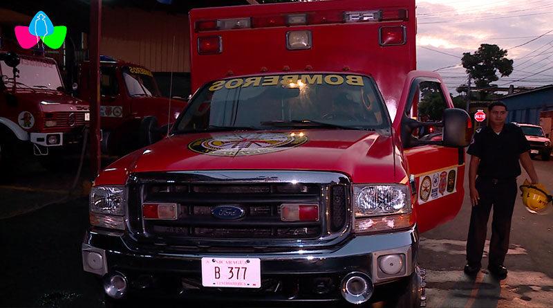 Medios y efectivos bomberiles de la nueva estación básica de bomberos en Juigalpa, Chontales.