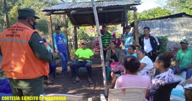 Foto: Ejército de Nicaragua / Estas actividades se desarrollaron implementando todas las medidas de prevención y protección orientadas por el Ministerio de Salud (MINSA), para prevenir el contagio de la COVID-19.