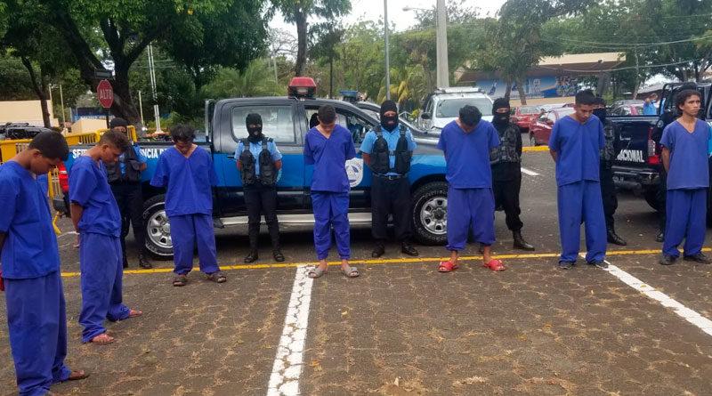 Delincuentes capturados en Managua por la Policía Nacional de Nicaragua