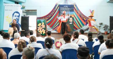 Acto de inauguración de la Casa de la Cultura en Masaya