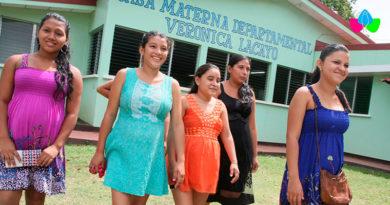 Mujeres embarazadas albergadas en Casas Maternas de Nicaragua.