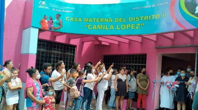 Inauguración de la Casa Materna Camila López en el distrito 1 de Managua