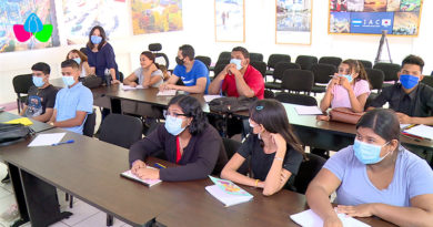 Estudiantes en su primer día en el Centro Tecnológico Ariel Darce del MINJUVE