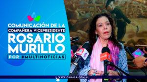 Vicepresidenta de la República de Nicaragua, Compañera Rosario Murillo, en la edición del mediodía del noticiero Multinoticias, Canal 4.
