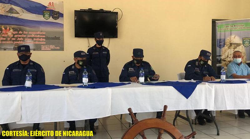 Ejército de Nicaragua realiza traspaso de mando del Distrito Naval Pacífico