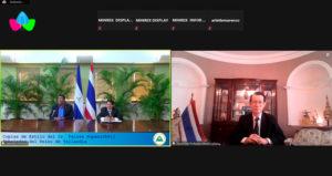 Recibimiento de las Copias de Estilo del Embajador del Reino de Tailandia, Señor Paisan Rupanichkij.