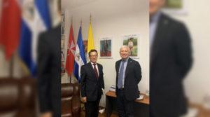 Embajador de la República de Corea Señor Choo Kyu Ho junto al Embajador de Nicaragua Francisco Javier Bautista Lara