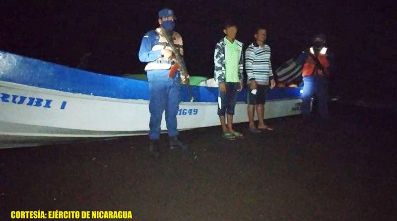 Personas retenidas por la Fuerza Naval de Nicaragua por ingreso ilegal al país