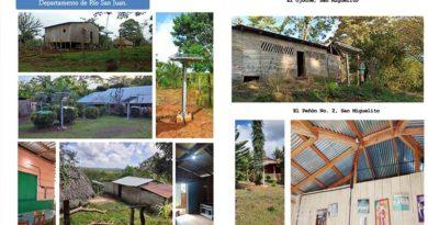 Paneles solares instalados por ENATREL en diferentes municipios de Río San Juan