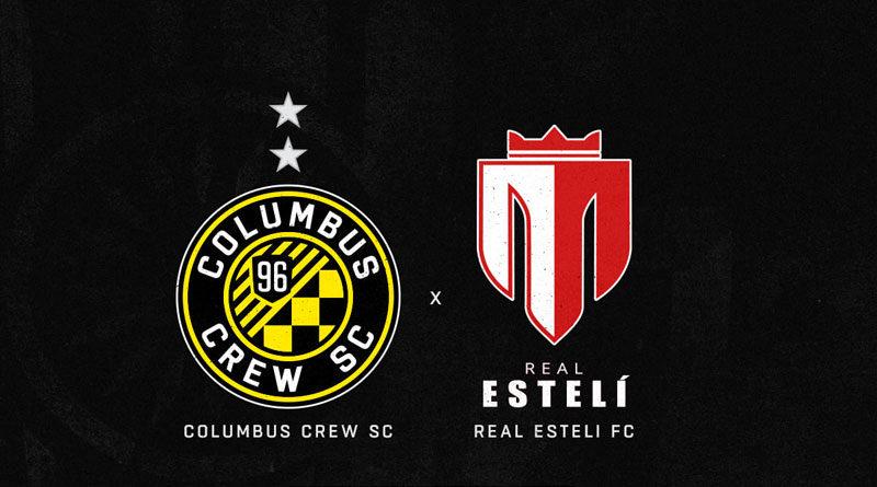 Arte promocional entre el Real Estelí y Columbus Crew en CONCACAF