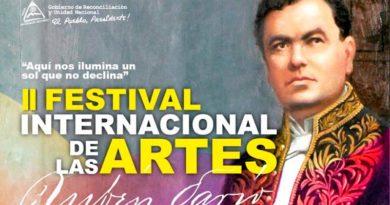 Infografía sobre el II Festival Internacional de las Artes Rubén Darío