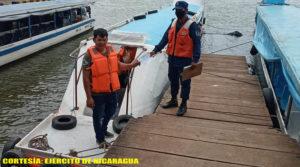 Fuerza Naval durante las inspecciones realizadas a embarcaciones en Río San Juan