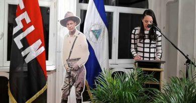La Embajada de Nicaragua en Bélgica y los Miembros de la Solidaridad con América Latina