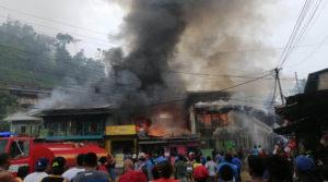 Incendio ocurrido en el Mercado Municipal de Bonanza