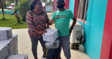 Pescadores del Caribe Norte recibieron bono de seguridad alimentaria por parte de INPESCA
