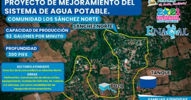 """Esquema de Mejoramiento de Sistema de Agua Potable """"Los Sánchez Norte"""""""