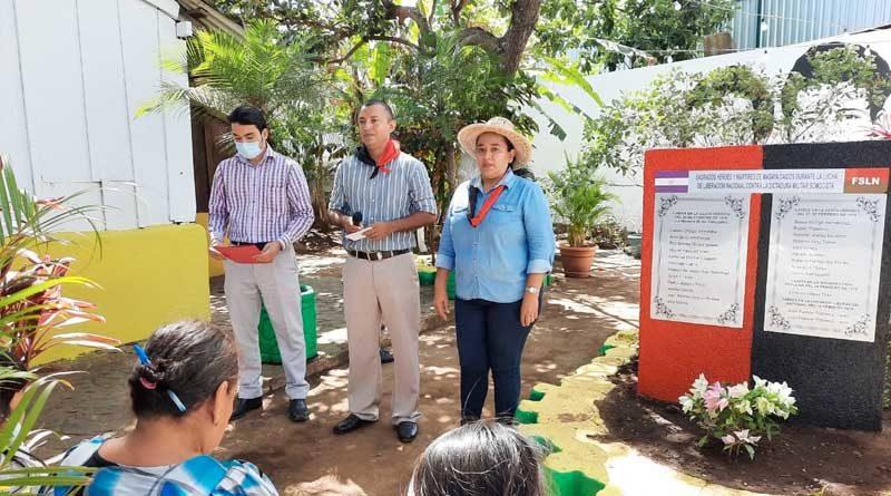 Homenaje a los héroes y mártires de Los Sabogales en Masaya
