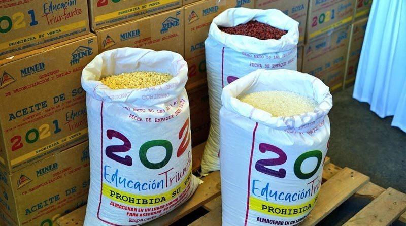 Merienda Escolar que es entregada desde el Gobierno Sandinista a través del Ministerio de Educación (MINED)