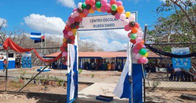Inauguración de la rehabilitación del Centro Educativo en Chontales