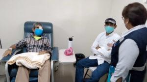 Ministra de salud, Martha Reyes durante visita al Centro Oncológico de Quimioterapia y Cuidados Paliativos