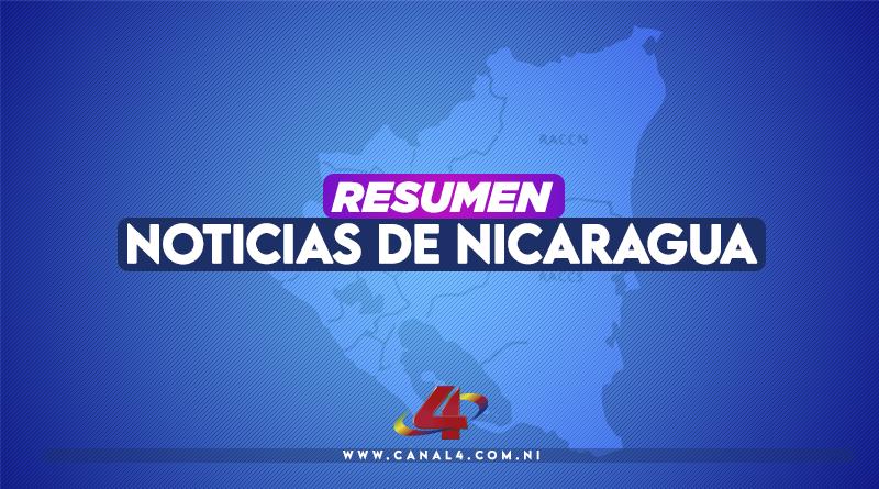 Mapa de Nicaragua con la leyenda Resumen de Noticias de Nicaragua