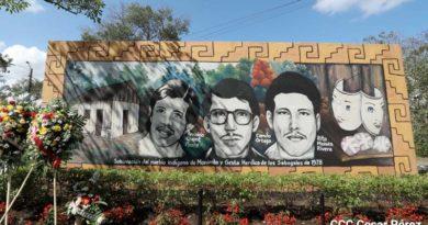 Militancia Sandinista rinde homenaje a los héroes y mártires de Los Sabogales en Masaya
