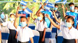 Alumnos durante el inicio del Curso Escolar 2021