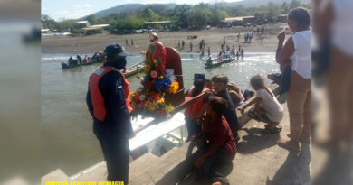 Peregrinación acuática en honor al Santo Patrono San Pedro Apóstol en El Viejo, Chinandega