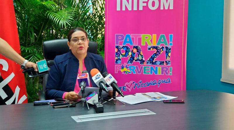 Guiomar Irías, titular del Instituto Nicaragüense de Fomento Municipal (INIFOM) de Nicaragua